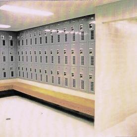 Boy's locker room