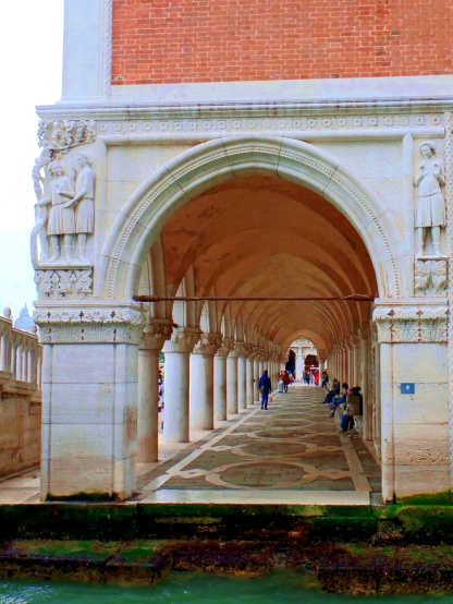 Venice: Arcade at Doge's Palace