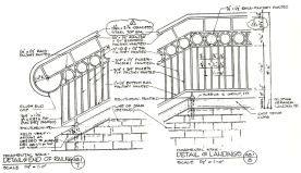 Drawing of stair