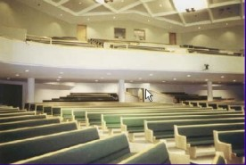 Expanded seating in sanctuary