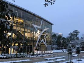 Building Front in Snow