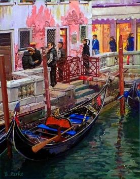 Gondoliers in Venice