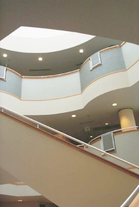Interior of atrium