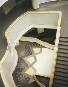 Looking down in atrium