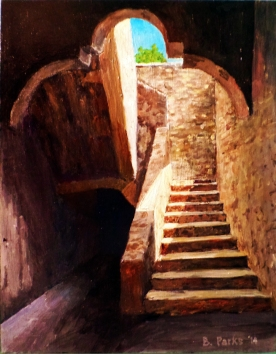 Mission Concepcion Stairway, San Antonio