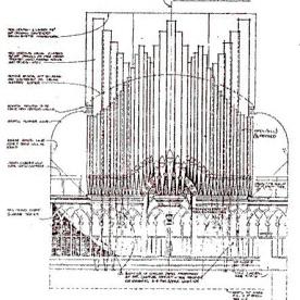Organ pipe array drawing