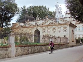 Biking in a Roman Park