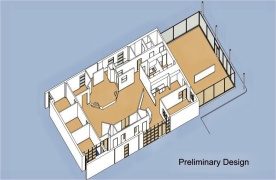 Remodeled restaurant to create a Youth Building