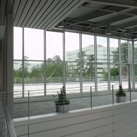 View toward the roof deck