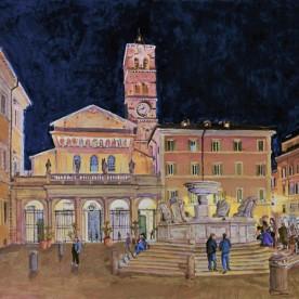Piazza Santa Maria in Trastevere, Rome