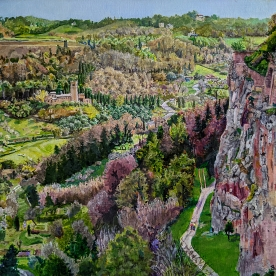 Cliff View from Orvieto, Italy